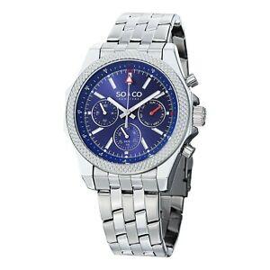 【送料無料】 腕時計 ニューヨークメンズステンレススチールsoamp;co york mens monticello quartz day and date stainless steel watch blue