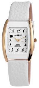 【送料無料】 腕時計 クォーツホワイトゴールドアナログメタルレザーウォッチwomens quartz watch white gold analogue metal leather w60463611960600