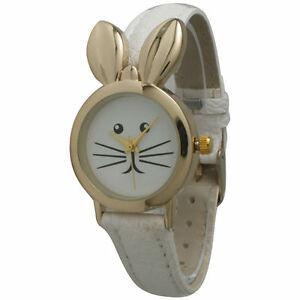 【送料無料】 腕時計 バニーウサギイースターペットウサギデザイナーウォッチbunny rabbit easter spring animal pet watch bunny ears white designer watch