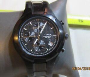 【送料無料】 腕時計 クロノグラフメンズブラックステンレススチールウォッチ