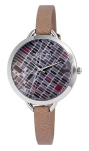 【送料無料】 腕時計 クォーツグレーアナログメタルwomens quartz watch grey taupe unique stones analogue metal w60463613711450
