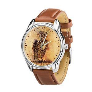 【送料無料】 腕時計 ヴィンテージフクロウクリスマスvintage watercolor owl lovers wristwatch men women watch birthday christmas gift