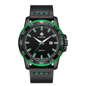 【送料無料】 腕時計 レザーストラップスポーツウォッチwwoor men waterproof date quartz luxury leather strap army military sport watch