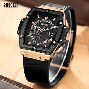 【送料無料】 腕時計 baogela 1703 3クロノグラフローズブラック