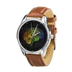 【送料無料】 腕時計 クリスマスanatomical brain watercolor best nurse wristwatch watch birthday christmas gift