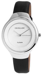【送料無料】 腕時計 クオーツホワイトブラックアナログメタルレザーウォッチ