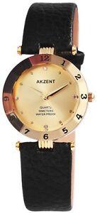 【送料無料】 腕時計 クオーツゴールドブラックアナログメタルレザーウォッチ