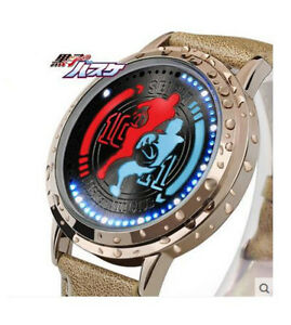 【送料無料】 腕時計 バスケットボールチームタッチkurokos basketball seirin team led touch screen leather waterproof wristwatch