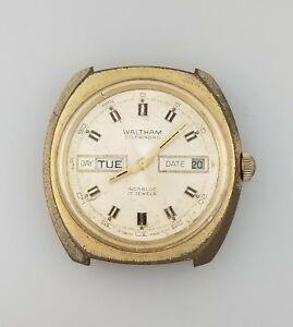 【送料無料】 腕時計 ビンテージウォルサムメンズvintage waltham automatic mens day date wrist watch fhf 908 runs good