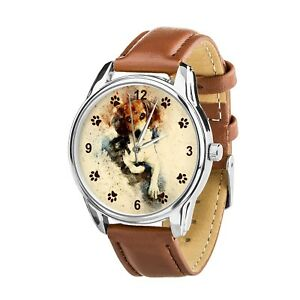 【送料無料】 腕時計 ヴィンテージクリスマスvintage watercolor beagles dog lovers wristwatch watch birthday christmas gift