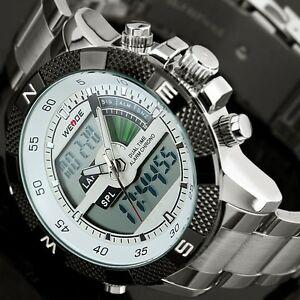 【送料無料】 腕時計 ウォッチクオーツled mensアナログステンレスmen watch wrist quartz led mens sport analog stainless steel luxury army watches