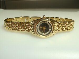 【送料無料】 腕時計 ゴールドトーンwrist watch crystal womens elgin eg285n gold tone