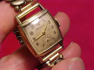 【送料無料】 腕時計 ビンテージルマンvintage mans boulevard wristwatch 17j