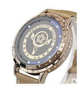 【送料無料】 腕時計 cardcaptor kinomotoキーledタッチスクリーンcardcaptor kinomoto sakura star wand key led touch screen waterproof wrist watch