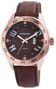 【送料無料】 腕時計 メンズクォーツブラウンゴールドアナログメタルレザーmens quartz watch brown gold analogue date metal leather w60463614664695