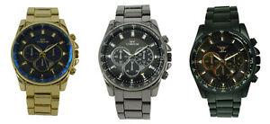 【送料無料】 腕時計 ny london mensクロノグラフタコメーターny london mens metal decorative wristwatch chronograph date tachometer