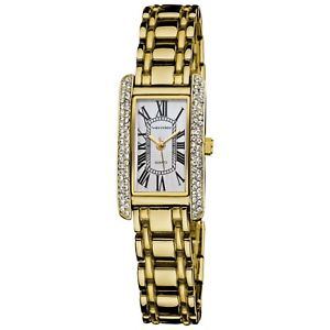 【送料無料】 腕時計 バーニヤ womens vernier v11128yg rectangular easyread quartz watch gold