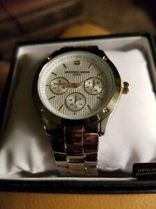【送料無料】 腕時計 メンズクロノグラフクォーツトーンゴールドウォッチgerey beene mens gb8088ttgrs chronograph display quartz 2 tone gold watch
