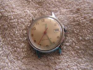 【送料無料】 腕時計 ビンテージグローvintage timex watch with glow in dark hands water resistant