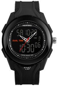 【送料無料】 腕時計 アクアフォースデュアルアナログデジタルmaqua force dual analog and digital combat watch 50m water resistant