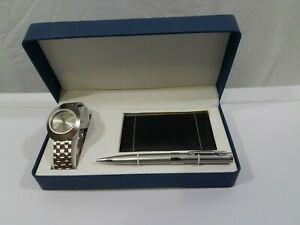 【送料無料】 腕時計 マイケルジョルダーノステンレススチールバッテリーセットmichael giordano stainless steel watch gift set with battery