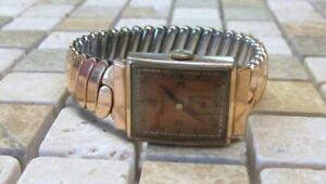 【送料無料】 腕時計 ビンテージメンズマニュアルvintage benrus mens rolled gold plated manual wind wristwatch ~ 6i5236
