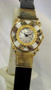 【送料無料】 腕時計 レディーススキンジャスパーladies genuine semiprecious stone leopard skin jasper amp; mother of pearl watch