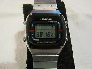 【送料無料】 腕時計 ビンテージメンズデジタルクロノメーターウォッチvintage mens helbros digital lcd chronometer watch f110