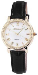 【送料無料】 腕時計 クォーツホワイトゴールドブラックアナログメタルレザーウォッチ
