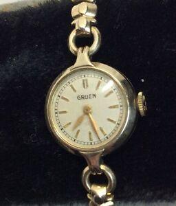 【送料無料】 腕時計 ビンテージレディースvintage gruen ladies wristwatch gfw67