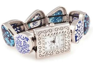 【送料無料】 腕時計 ビバビーズウォッチviva beads something blue square pebble watch