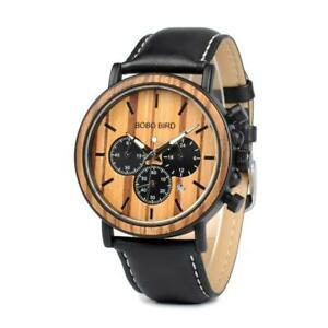 【送料無料】 腕時計 ボボクォーツカジュアルbobo bird wooden watch men women wood watches leather quartz casual