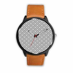 【送料無料】 腕時計 ステンレスleather stainless steel custom designed watch