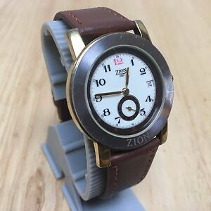【送料無料】 腕時計 ビンテージザイオンイタリアkゴールドメッキアナログクォーツバッテリーvintage zion italy 18k gold plated analog quartz watch hours~date~ battery