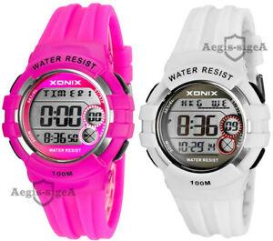 【送料無料】 腕時計 デジタルワールドタイムストップウォッチ×アラーム×digital xonix wristwatch, world time, stopwatch x15, alarm x8, waterproof