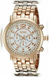 【送料無料】 腕時計 アナログクォーツローズゴールドウォッチxoxo womens xo5821 analog display quartz rose gold watch