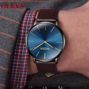 【送料無料】 腕時計 クォーツwatch ultrathin design lovers waterproof women men wristwatch quartz leather