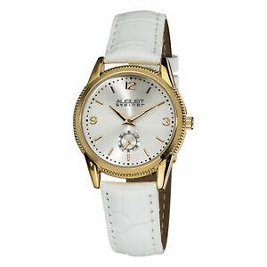【送料無料】 腕時計 シュタイナースイスクオーツゴールドトーンホワイトレザーウォッチ womens august steiner as8021wtg swiss quartz goldtone white leather watch