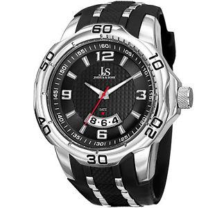 【送料無料】 腕時計 メンズジョシュアクォーツムーブメントポリウレタンストラップウォッチmens joshua amp; sons jx110ssb quartz movement date polyurethane strap watch