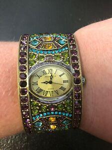 【送料無料】 腕時計 ハイジアールデコカフウォッチheidi daus divinely deco multigemstone cuff watch 1ar492