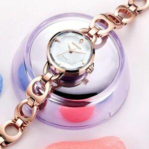 【送料無料】 腕時計 ファッションローズゴールドメタルブレスレットクオーツwomen fashion rose gold metal bracelet jewelry waterproof quartz wristwatches