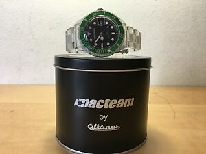 【送料無料】 腕時計 ウォッチウォッチグリーンベゼルused watch watch macteam by altanus green bezel not working not works