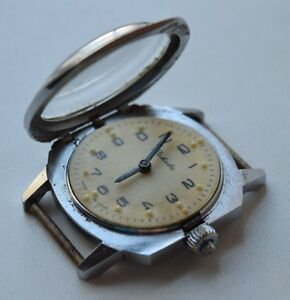 【送料無料】 腕時計 ビンテージソvintage ussr raketa 2601h su wristwatch for blind braille people 19 jewels
