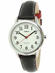 【送料無料】 腕時計 リーダーシルバーレザーアナログクォーツファッションウォッチtimex womens easy reader tw2r40200 silver leather analog quartz fashion watch