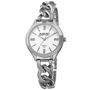 【送料無料】 腕時計 シュタイナーハンドクォーツムーブメントリンクブレスレットwomens august steiner as8222ss three hand quartz movement link bracelet watch