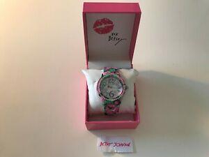 【送料無料】 腕時計 ジョンソンピンクローズファッションドルウォッチ betsey johnson pink rose green rhinestones bj0048216bx fashion watch 75
