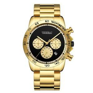 【送料無料】 腕時計 カレンダークロノグラフステンレススチールクオーツメンズhemsut latest calendar chronograph stainless steel quartz mens wrist watch