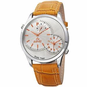 【送料無料】 腕時計 シュタイナークォーツマルチファンクションタンレザーストラップウオッチ mens august steiner as8010sstn quartz multifunction tan leather strap watch