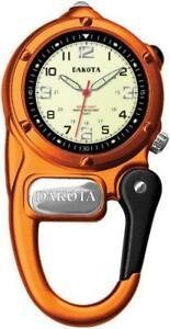 【送料無料】 腕時計 ダコタミニクリップオレンジウォッチアルミステンレスdakota mini clip orange microlight watch aluminum stainless water resistant 3805