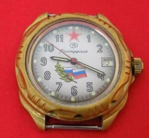 【爆売りセール開催中!】 【送料無料】 腕時計 ビンテージロシアヴォストークウォッチvintage russian army red star wrist watch vostok komandirskie 17 jewels serviced, 蒲生町 4f068cf4